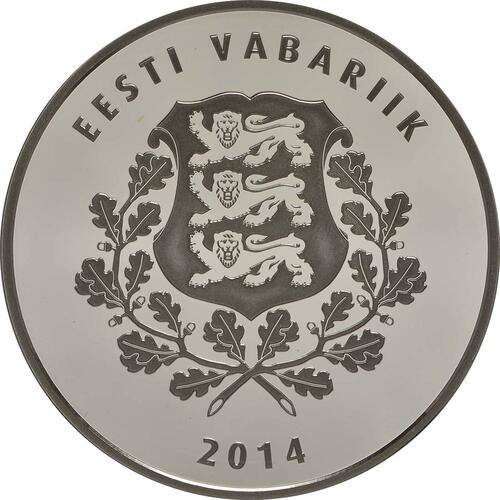 Rückseite:Estland : 10 Euro 150. Geburtstag Miina Härma  2014 PP