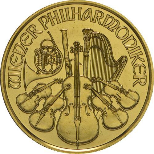 Rückseite:Österreich : 4 Euro Philharmoniker  2014 Stgl.