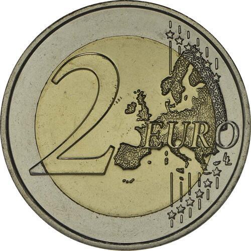 Vorderseite:Niederlande : 2 Euro Doppelportrait  2014 bfr
