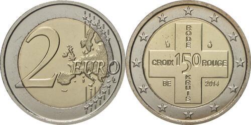Lieferumfang:Belgien : 2 Euro 150 Jahre Rotes Kreuz in Belgien  2014 bfr