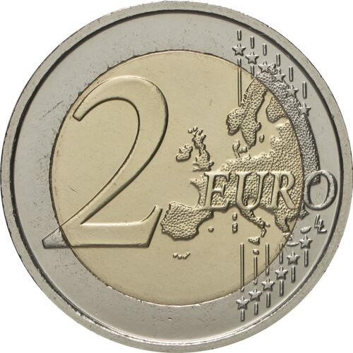 Vorderseite:Belgien : 2 Euro 150 Jahre Rotes Kreuz in Belgien  2014 bfr