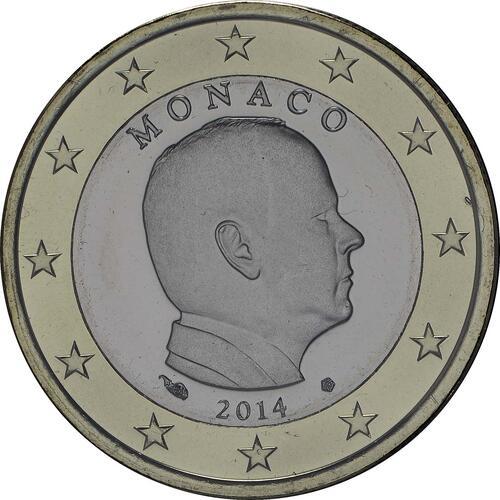 Lieferumfang :Monaco : 1 Euro Albert - Kursmünze  2014 Stgl.