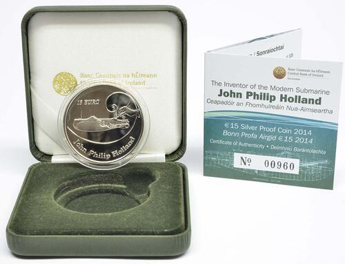Lieferumfang:Irland : 15 Euro John Philipp Holland U-Boot Konstrukteur  2014 PP