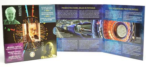 Lieferumfang:Belgien : 5 Euro Higgs Teilchen  2014 PP
