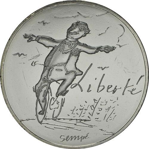 Vorderseite:Frankreich : 10 Euro Frühling Liberté  2014 bfr