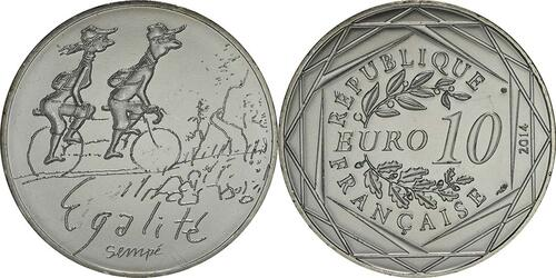 Lieferumfang:Frankreich : 10 Euro Frühling Egalité  2014 bfr