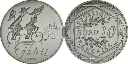 Lieferumfang:Frankreich : 10 Euro Sommer Egalité  2014 bfr