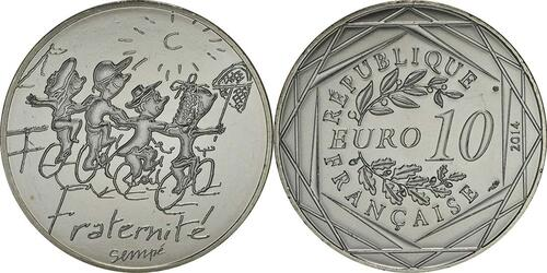 Lieferumfang:Frankreich : 10 Euro Sommer Fraternité  2014 bfr