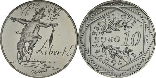 Lieferumfang:Frankreich : 10 Euro Herbst Liberté  2014 bfr