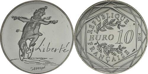 Lieferumfang:Frankreich : 10 Euro Winter Liberté  2014 bfr