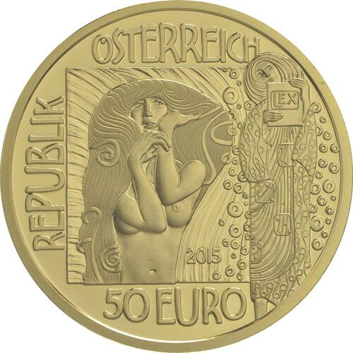 Rückseite:Österreich : 50 Euro Medizin  2015 PP