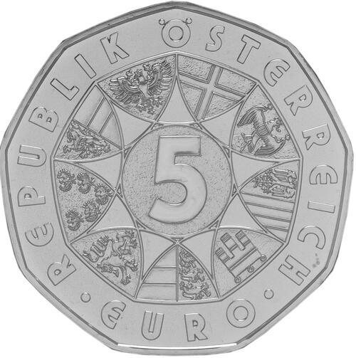 Rückseite:Österreich : 5 Euro Neujahrskonzert  2016 Stgl.