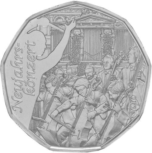 Vorderseite:Österreich : 5 Euro Neujahrskonzert  2016 Stgl.
