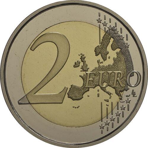 Vorderseite :Spanien : 2 Euro König Felipe VI. + Medaille  2014 PP