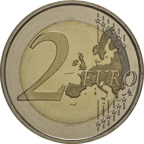 Vorderseite:Spanien : 2 Euro König Felipe VI.  2014 bfr
