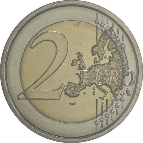 Vorderseite :San Marino : 2 Euro 750. Jahrestag der Geburt von Dante Alighieri  2015 Stgl.