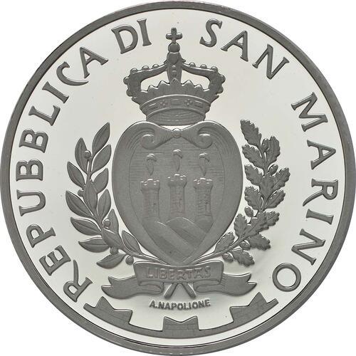 Rückseite:San Marino : 10 Euro 150. Jahrestag des Todes von Abraham Lincoln  2015 PP