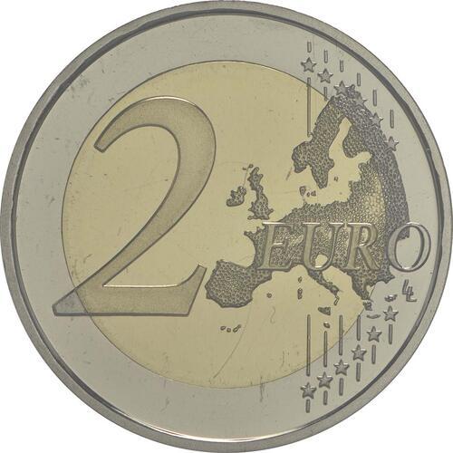Vorderseite:Andorra : 2 Euro 20 Jahre Mitgliedschaft von Andorra im Europarat  2014 PP