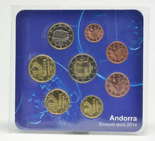 Lieferumfang:Andorra : 3,88 Euro KMS Andorra - Einwohnersatz  2014 bfr