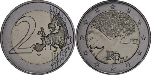 Lieferumfang:Frankreich : 2 Euro Frieden in Europa  2015 bfr
