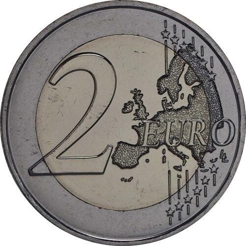 Vorderseite:Frankreich : 2 Euro Frieden in Europa  2015 bfr