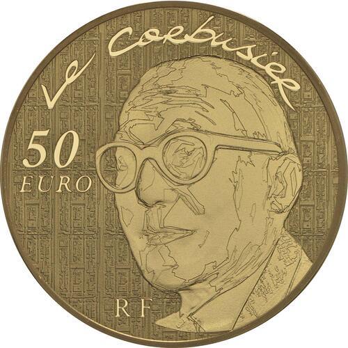 Rückseite:Frankreich : 50 Euro Le Corbusier  2015 PP