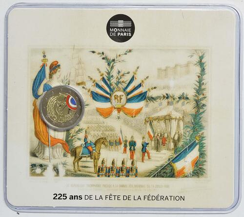 Lieferumfang:Frankreich : 2 Euro Föderationsfest  2015 Stgl.
