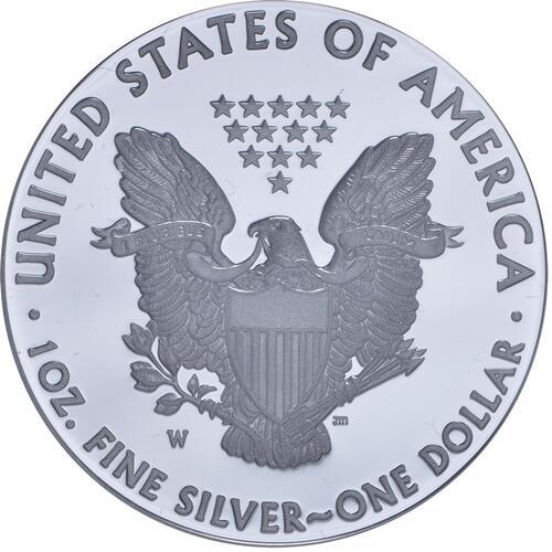 Rückseite:USA : 1 Dollar Silber Eagle 1 oz Polierte Platte  2015 PP