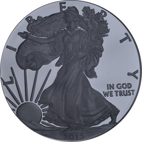 Vorderseite:USA : 1 Dollar Silber Eagle 1 oz Polierte Platte  2015 PP