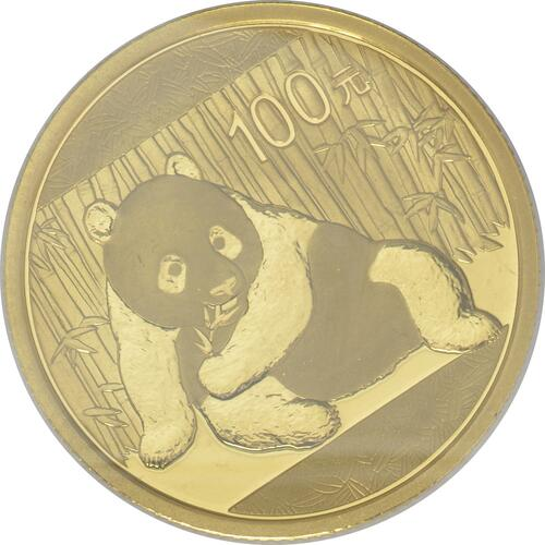 Vorderseite:China : 100 Yuan Panda 1/4 Oz  2015 Stgl.