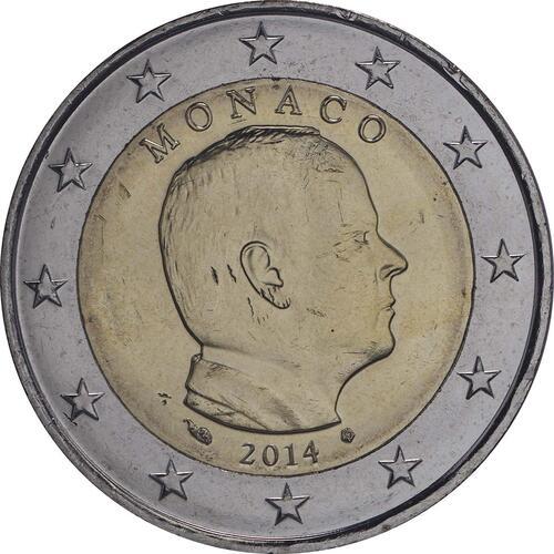 Rückseite :Monaco : 2 Euro Albert  2014 bfr