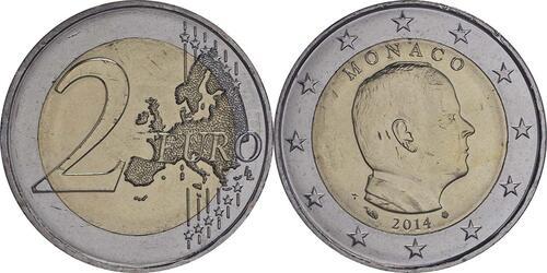 Lieferumfang :Monaco : 2 Euro Albert  2014 bfr
