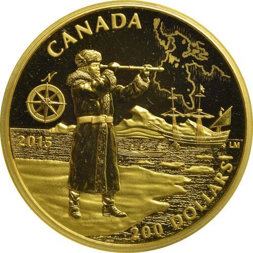 Vorderseite:Kanada : 200 Dollar Große Kanadische Entdecker - Henry Hudson  2015 PP