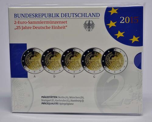 Lieferumfang:Deutschland : 2 Euro 25 Jahre Deutsche Einheit  2015 PP