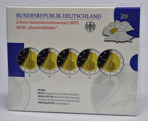 Lieferumfang :Deutschland : 2 Euro Hessen - Paulskirche Frankfurt  2015 PP