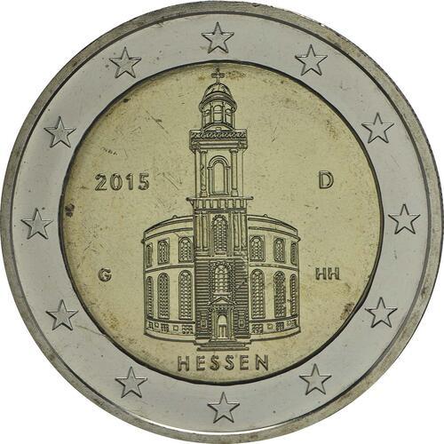 Rückseite :Deutschland : 2 Euro Hessen - Paulskirche Frankfurt  2015 Stgl.