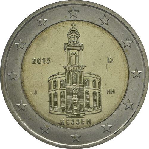 Rückseite:Deutschland : 2 Euro Hessen - Paulskirche Frankfurt  2015 Stgl.