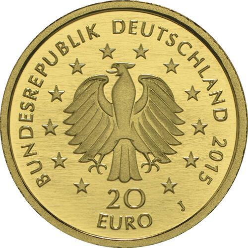 Rückseite:Deutschland : 20 Euro Linde  2015 Stgl.