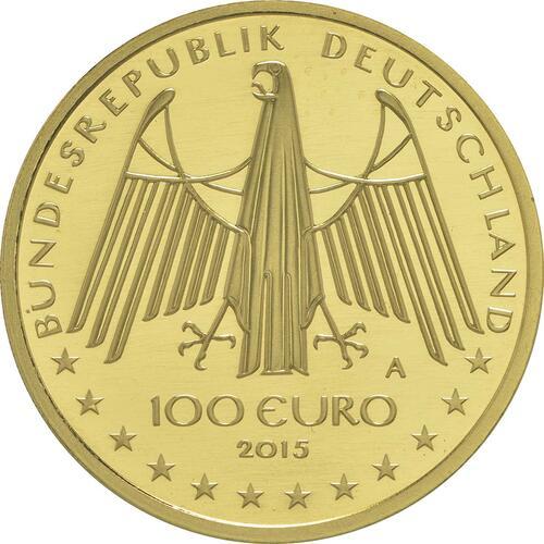 Rückseite:Deutschland : 100 Euro Oberes Mittelrheintal  2015 Stgl.