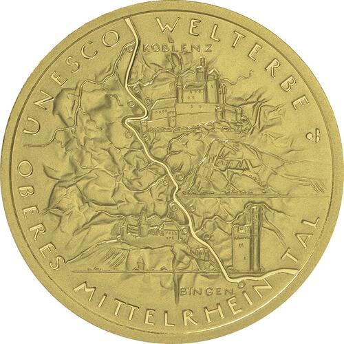Vorderseite:Deutschland : 100 Euro Oberes Mittelrheintal  2015 Stgl.
