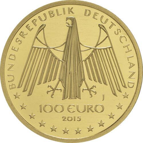 Rückseite :Deutschland : 100 Euro Oberes Mittelrheintal Buchstabe unserer Wahl  2015 Stgl.