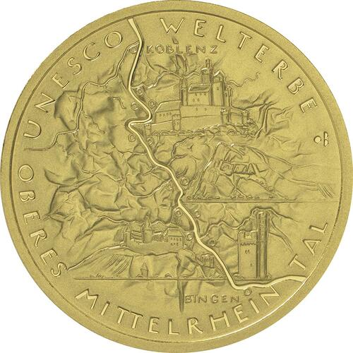 Vorderseite :Deutschland : 100 Euro Oberes Mittelrheintal Buchstabe unserer Wahl  2015 Stgl.