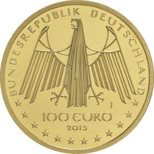 Rückseite :Deutschland : 100 Euro Oberes Mittelrheintal Komplettsatz A,D,F,G,J  2015 Stgl.
