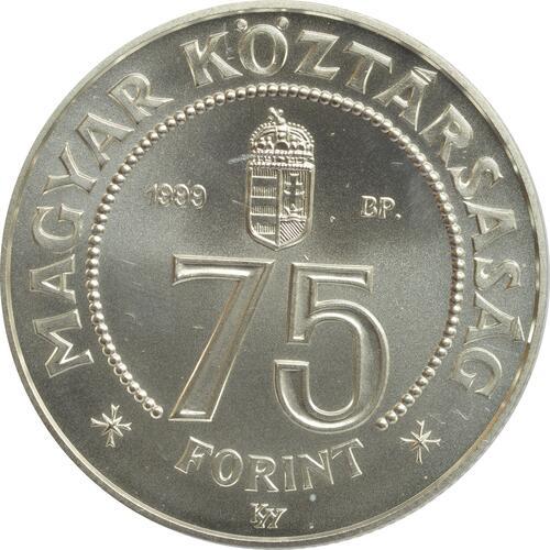 Rückseite:Ungarn : 75 Forint 75 Jahre Nationalbank  1999 Stgl.