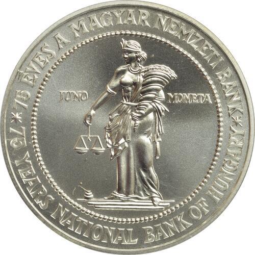 Vorderseite:Ungarn : 75 Forint 75 Jahre Nationalbank  1999 Stgl.