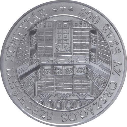 Vorderseite:Ungarn : 3000 Forint 200 Jahre Nationalbibliothek  2002 Stgl.