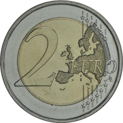 Vorderseite:Finnland : 2 Euro Jean Sibelius  2015 bfr