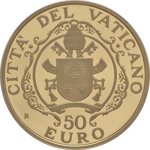 Rückseite:Vatikan : 53,88 Euro KMS Vatikan mit 50 Euro Gedenkmünze Papst Franziskus MMXV  2015 PP