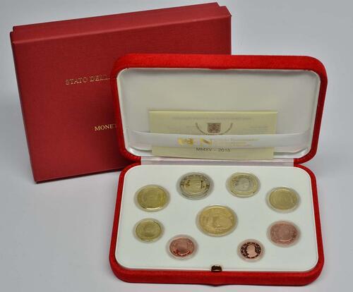 Lieferumfang:Vatikan : 53,88 Euro KMS Vatikan mit 50 Euro Gedenkmünze Papst Franziskus MMXV  2015 PP