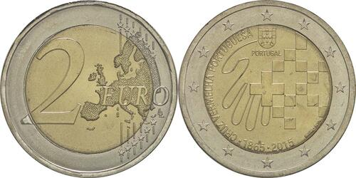 Lieferumfang :Portugal : 2 Euro 150 Jahre Rotes Kreuz  2015 bfr